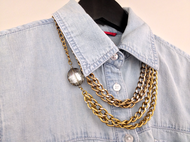 diy chain necklaces chambray
