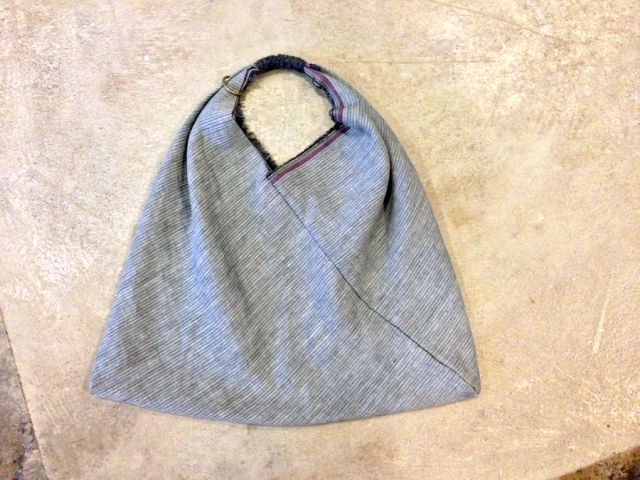 triangle bag on floor